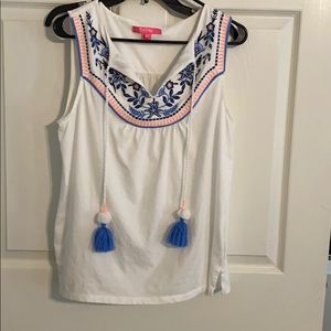 EUC Lilly Pulitzer peasant top, large, barely worn